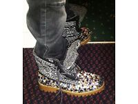 Customized Bandana Styled Bling Boots..
