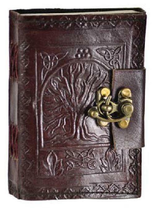 Купить Tree Of Life Handmade Leather Blank Travel Journal Book Home Diary Notebook Lock