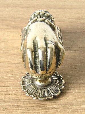 Hand Design Brass Door Knocker, in Italian Cast Brass, Polished Finish