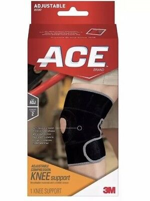 ACE Adjustable Compression Knee Support 207247 Ace Adjustable Knee Brace