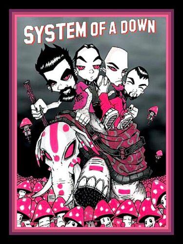 "RARE 4.75"" System Of A Down Elephant Mushroom vinyl sticker. Heavy Metal decal."