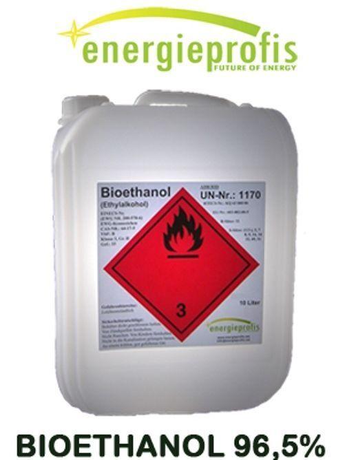 10 L Bio Alkohol 96,6%  Ethanol Bioethanol Kamin