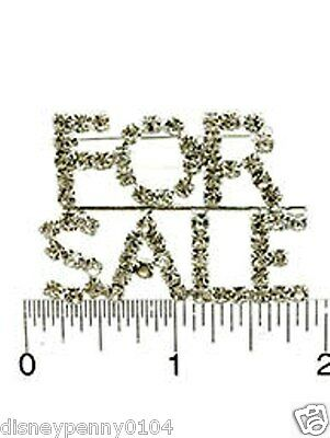FOR SALE Pin for realtors or business people-Clear Rhinestones-1 3/4