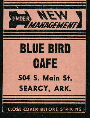 SEARCY AR Blue Bird Cafe Vtg Restaurant Advertising Tan Match Book Cover Old MB