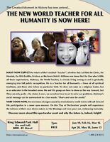 The New World Teacher For All Humanity Is Now Here!