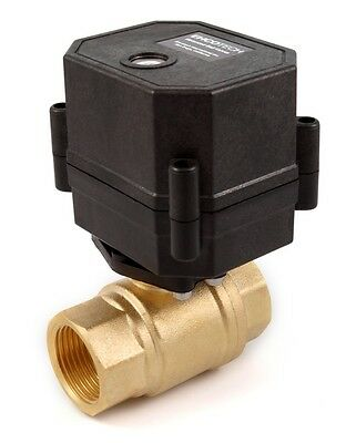 34 Npt Motorized Ball Valve Brass 9 V 12 To 24 Vdcvac 2-wire Normally Closed
