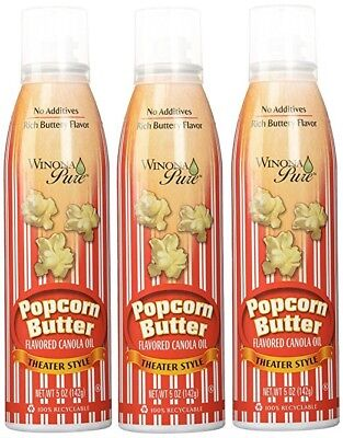 Winona Pure Popcorn Butter Theater Style. Pack of 3