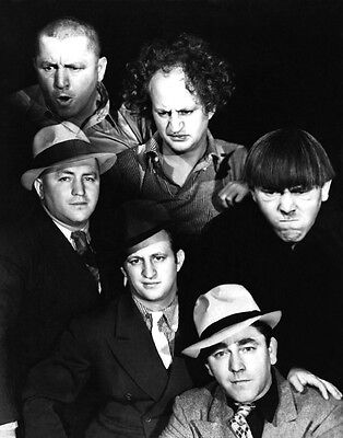 1943 Promotional Print 3 THREE STOOGES Glossy 8x10 Photo Larry Moe Curly Poster