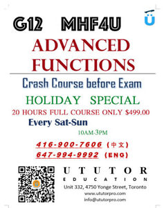 MHF4U G12 ADVANCED FUNCTIONS FINAL EXAM PREPARATION  MATH TUTOR