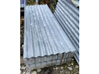 1830 x 660mm (6ft x 2ft 1.5) corrugated galvanised steel sheets - Singles and packs