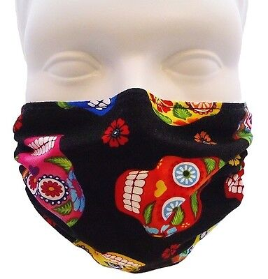 Colorful Skulls Mask By Breathe Healthy  For Dust  Pollen   Allergy Relief