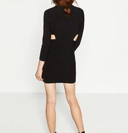 Black Zara woman's dress with cut out detail