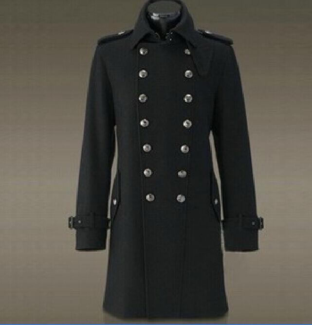 Немецких Второй мировой войны General Пальто Мужская мода мужской шерстяной