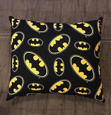 """Beautiful Handmade Batman Accent - Throw Pillow 10"""" x 8"""""""