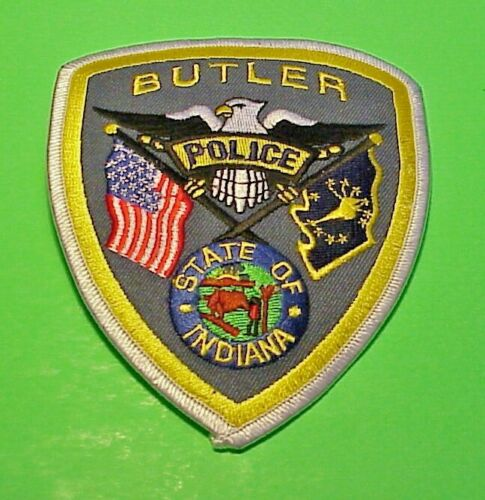 "BUTLER  INDIANA  IN  POLICE PATCH  4 3/4""    FREE SHIPPING !!!"