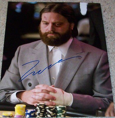 Zach Galifianakis Signed The Hangover 11X14 Photo W Proof Autograph A