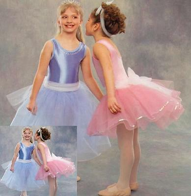 Pretty In Pastel Dance Costume Cinderella LONG BLUE Ballet Clearance Child Large - Pretty Girls In Nylons