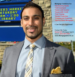 Income/Credit Issues Approved...1st & 2nd Mortgages...| GTA