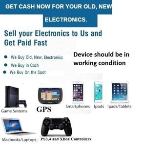 GET CASH NOW FOR YOUR OLD, NEW ► IPHONE ► SAMSUNG ► LAPTOP ► PS4