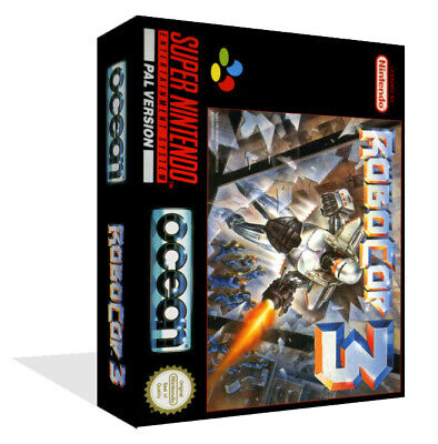 Robocop 3 SNES Replacement Game Case Box + Cover Art Work (No Game)