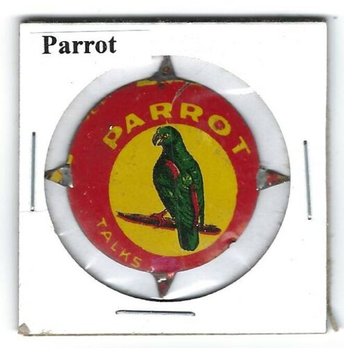 Parrot Chewing Tobacco Tag Litho Tics Intact P239