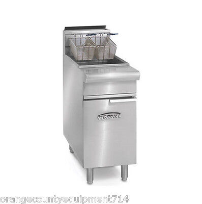 New 75 Lb Electric Deep Fryer Stainless Steel Imperial Ifs-75e 4569 Commercial