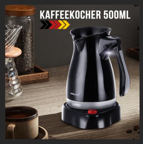 Türkischer Kaffeekocher Mokkakocher Espressokocher Wasserkocher Schwarz