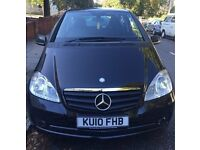 Mercedes A Class 2010 MERCEDES-BENZ A160 1.5 BlueEFFICIENCY CLASSIC SE BLACK MOT AUG 17 FULL SERVICE