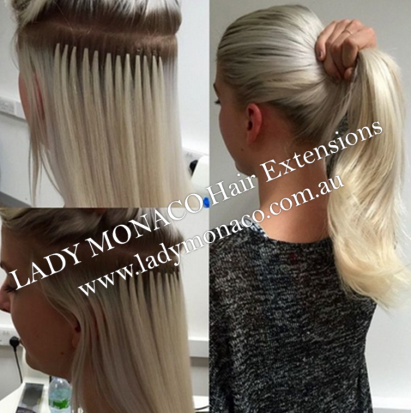 Tape Micro Weft Micro Ring Flat Track Hair Extension Lady Monaco