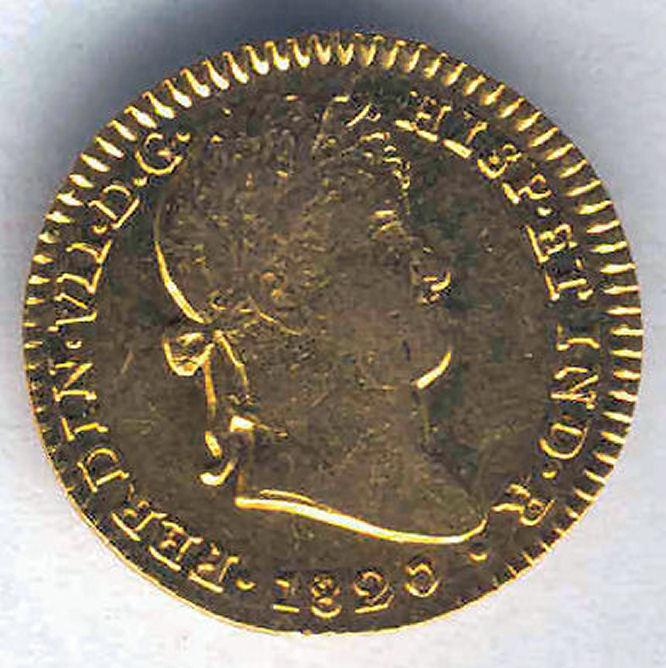 Fernando Vii 2 Shields 1820 Seville C.j. Gold @ Very Bella @
