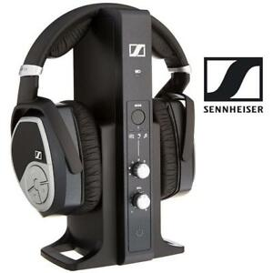 NEW* SENNHEISER WIRELESS HEADPHONES RS 195 196422069 BLACK