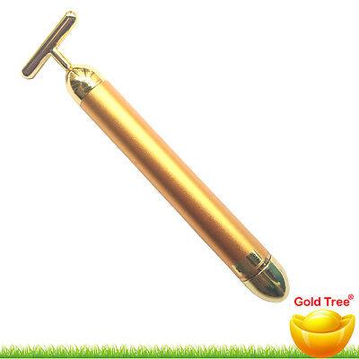 Japan 24K Gold Golden Eye Massager Pocket Vibrating V-Shape Face Slimming Roller
