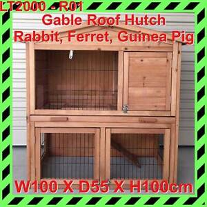 Gable Roof Rabbit Hutch, Guinea Pig Hutch, Ferret Cage Rosewater Port Adelaide Area Preview