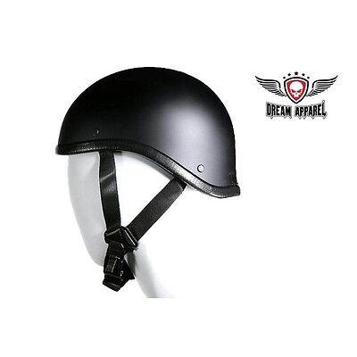 Flat Black Gladiator Novelty Motorcycle Half Helmet Cruiser Biker S,M,L,XL,XXL - Flat Black Cruiser