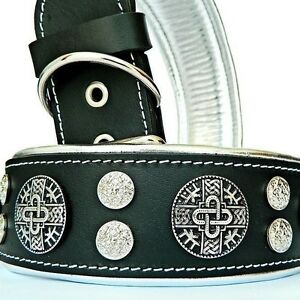 Hand-made-genuine-leather-dog-collar-Studded-Made-in-Europe-Top-quality-XS-XXL