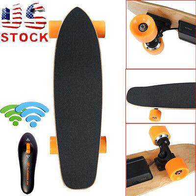 7 Inch Remote Control Four Wheels Electric Skateboard Longboard Skate Board HOT