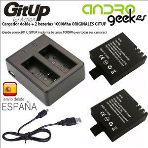 Cargador-doble-2-baterias-1000mha-100-ORIGINAL-GITUP-ENVIO-DESDE-ESPANA-GRATIS