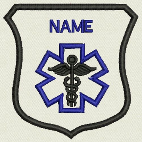 """Crest Custom Embroidery Medical, Tag, Patch, Badge  Iron On or Sew On - 3""""x3.30"""""""
