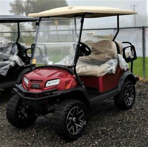 2019 CLUB CAR ONWARD CANDY APPLE RED ELECTRIC GOLF CART ( PTV )
