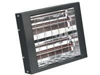 SEALEY INFRARED QUARTZ HEATER - WALL MOUNTING 3000W/230V IWMH3000 WALL MOUNTED