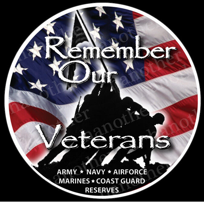 "REMEMBER OUR VETERANS DECAL STICKER 4.5"" x 4.5"" Vietnam, Navy, Marines"