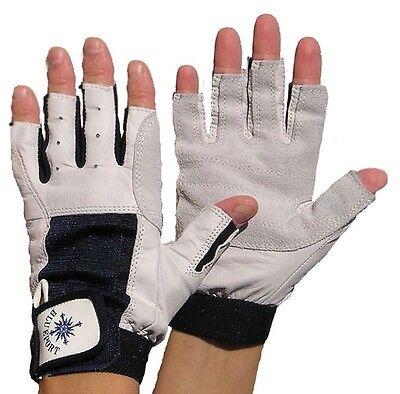BluePort Segelhandschuhe aus Ziegenleder Gr. M Rigginghandschuhe ohne Finger NEU