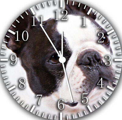 Cute Boston Terrier Frameless Borderless Wall Clock Nice For Gifts or Decor F33