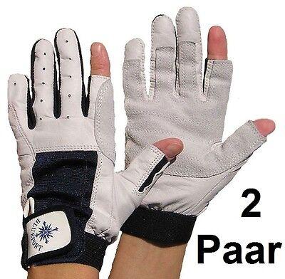 2 Paar BluePort Segelhandschuhe Ziegenleder Gr. S Handschuhe mit Finger Roadie