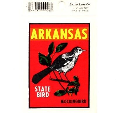 Lot of 12 Arkansas State Bird Souvenir Luggage Decals Stickers - New - Free S&H