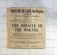 1925 Theatre Deluxe, Northgate, Gloucester The Miracle Of The Wolves -  - ebay.co.uk