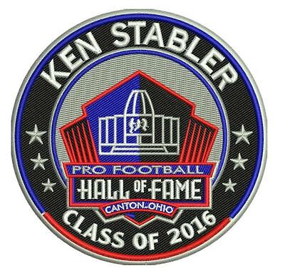 (PRO FOOTBALL HALL OF FAME PATCH HOF KEN STABLER OAKLAND RAIDERS INDUCTION 2016 )