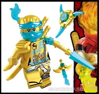 NINJAGO RARE - LEGENDARY GOLD CRYSTAL NIA HANDS OF TIME fits lego figure (L4)