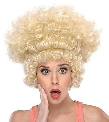 Shocked Ladies Big Blonde Curly Costume Wig Funny Hilarious Humor Halloween - Hilarious Womens Costumes