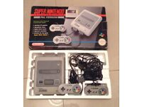 Super Nintendo Boxed with 2 Control Pads
